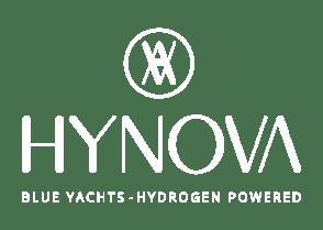 Logo d'entreprise Hynova, blue yachts – Hydrogen powered