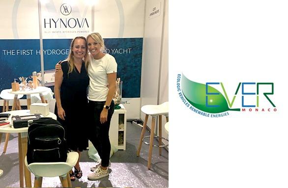 Chloé et Laetitia devant le stand HYNOVA au salon Ever Monaco 2020
