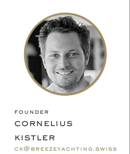 Cornelius Kistler fondateur de breezeYachting.swiss